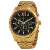 Michael Kors MK8286 Lexington Chronograph Black Dial Gold-Tone Watch