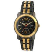 Peugeot Men's Gold-Tone Black Bracelet Watch