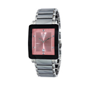 Oniss Mens Stainless Steel and Tungsten with Genuine Sapphire Gemstone