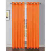Sheer Solid Voile Grommet Extra Wide Single Curtain Panel - Colour