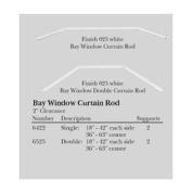 Single Bay Window Curtain Rod Set