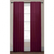 Diamond Sheer Voile Extra Wide Rod Pocket Single Curtain Panel - Colour