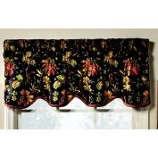 Felicite Noir 130cm x 38cm Scallop Window Valance