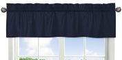 Solid Navy Window Valance for Space Galaxy Collection