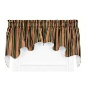 Mateo Medium Scale Stripe Print Lined Duchess Curtain Valance - Colour