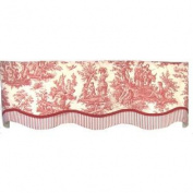 RLF Home Country Life Glory Valance, Red