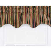 Mateo Medium Scale Stripe Print Lined Duchess Filler Curtain Valance - Colour
