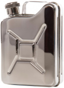 Brouk & Co. 2151 The Drill Sergeant Jerry Can Flask, 180ml, Silver