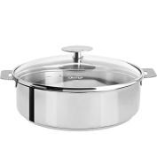 Mutine Stainless Steel 32cm Saute Pan & Glass Lid