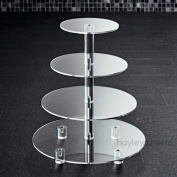 Hayley Cherie 4-Tier Cupcake Stand - Acrylic Tiered Cake Stand - Dessert or Cupcake Tower - Circular Shape