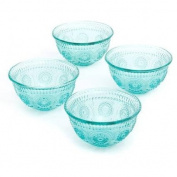 The Pioneer Woman Adeline 380ml Emboss Glass Bowl, Set of 4