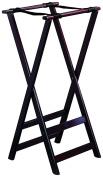 TableCraft 21 80cm Tall Mahogany Finish Teak Wood Tray Stand