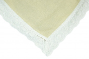 Granny's Cotton Burlap Tablecloth 54x54