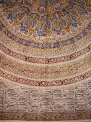 Veggie Dye Block Print Tapestry Cotton Bedspread 270cm x 220cm Full-Queen Red