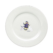Bumble Bee Round Ceramic White Dinner Plate 8852-DPW-11