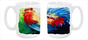 Bird - Rooster Chief Big Feathers Dishwasher Safe Microwavable Ceramic Coffee Mug 440ml MW1085CM15