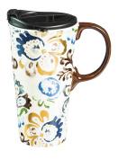Cypress Home Ceramic Ashford Manor Travel Coffee Mug, 500mls