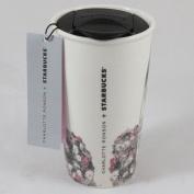 Starbucks Double Wall Ceramic Traveller - Charlotte Ronson, 350ml