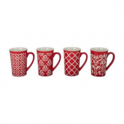 4 Piece Kristen Fashion Mug Set