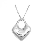 Solid Heart .925 Sterling Silver Necklace