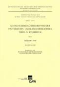 Katalog Der Handschriften Der Universiats- Und Landesbibliothek Tirol in Innsbruck. Teil 9 [GER]