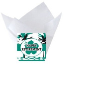 12pack Beach Retirement Tulip Baking Cup Liners