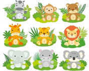 Baby Jungle Animals- Designer Strips - Edible Cake Side Toppers