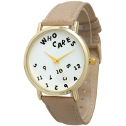 Olivia Pratt Women's 'Who Cares' Faux Leather Band Watch