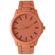 Olivia Pratt Women's Colourful Quilted Face Metal Watch