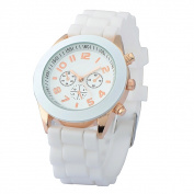 Zodaca White Analogue Quartz Silicone Jelly Sports Watch