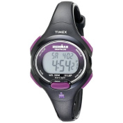 Timex Women's T5K523 Ironman Traditional 10-Lap Black/Purple Watch