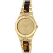 Swatch Women's Irony YLG127G Gold Stainless Steel Swiss Quartz Watch