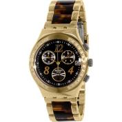 Swatch Women's Irony YCG405GC Goldtone Stainless Steel Swiss Quartz Watch