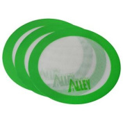 Silicone Alley, 3 Non-stick Mat Pad / Silicone Rolling Baking Pastry Mat Large Round 24cm Green