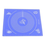 Silicone Baking Mat With Measurements, Heat Resistant, Reusable, Non-Stick Blue