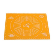 Silicone Baking Mat With Measurements, Heat Resistant, Reusable Non-Stick Orange
