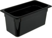 Carlisle 3066203 StorPlus Third Size Food Pan, Polycarbonate, 15cm Deep, Black