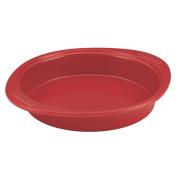 SilverStone Hybrid Ceramic Nonstick Bakeware 23cm Round Cake Pan Chilli Red
