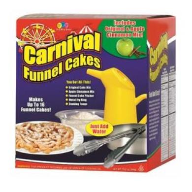 DIY Carnival Funnel Cakes - Fun & Easy Cake Kit with Original & Apple Cinnamon