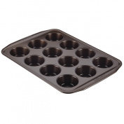 Symmetry(tm) Nonstick Bakeware 12-Cup Muffin Pan Chocolate Brown