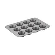 Basics Nonstick Bakeware 12-Cup Muffin Pan, Grey