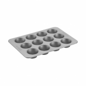 Professional Nonstick Bakeware 12-Cup Muffin Pan, Silver