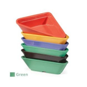 G.E.T. RM-202-FG Rainforest Green 90ml Triangle Ramekin - Dozen