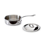 Mauviel M'Cook 5211.21 1.8l Saute Pan with Lid, Cast Stainless Steel Handle