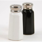 Classic Black and White Ceramic Salt & Pepper Shaker Set