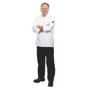J100-L White Large Basic Chef Jacket