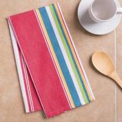 Sunset-Striped Kitchen Towel