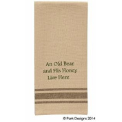 Cabin Lake and Lodge Decor - Embroidered Cotton Kitchen Dish Towel