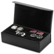 CUFFLINKS INC Mens Black Multi Pair Cufflinks Travel Case (Black) - Jewellery NEW
