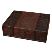 Vintage Style Wooden Treasure Chest Box Case Storage Accessory, .